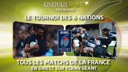 Photo : Tournoi des 6 nations sur grand écran au Kinépolis