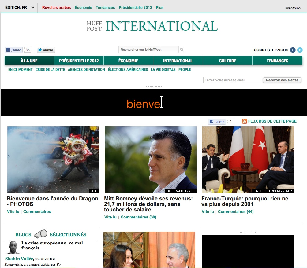 Photo : Huffington Post débarque en France