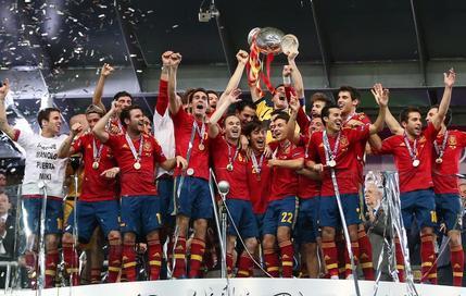 Photo : L'Espagne gagne l'Euro et réalise le triplé