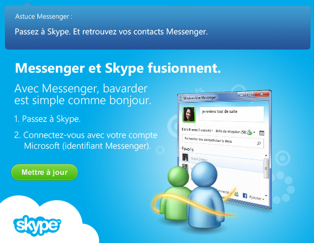 Photo : MSN - Windows Live Messenger passe le témoin à Skype