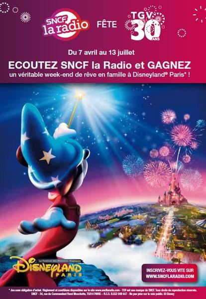 Photo : SNCF La Radio fête les 30 ans du TGV avec Disney